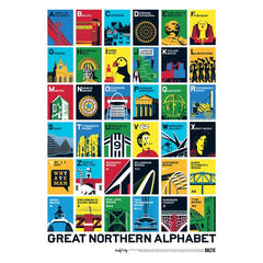 Great Northern Alphabet Poster