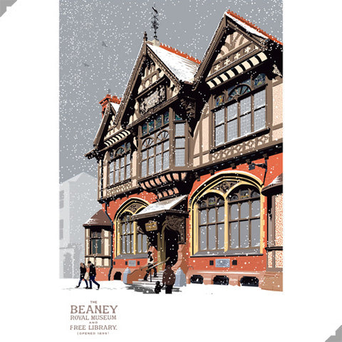 Winter at The Beaney, Canterbury Print