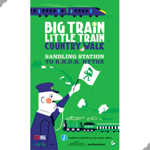 Big Train Little Train Print