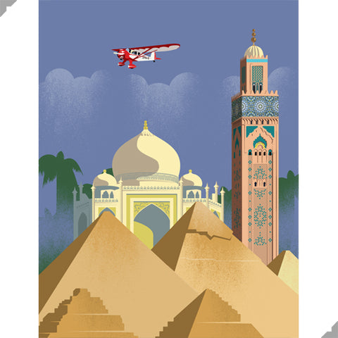 Golden Age of Aviation: Middle East Print