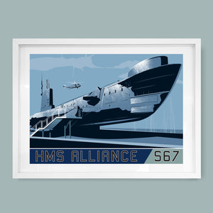 HMS Alliance (P417) S67, Submarine Print