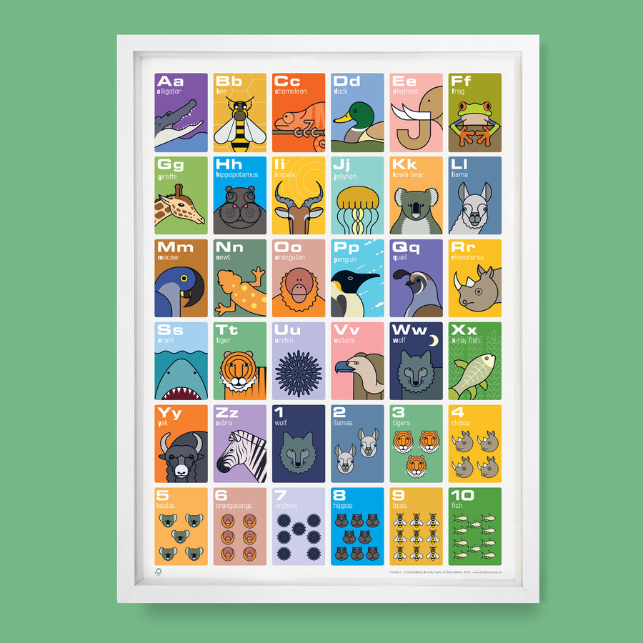 Animal Alphabet & Counting Poster