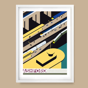 Ashford International Station, Kent Print