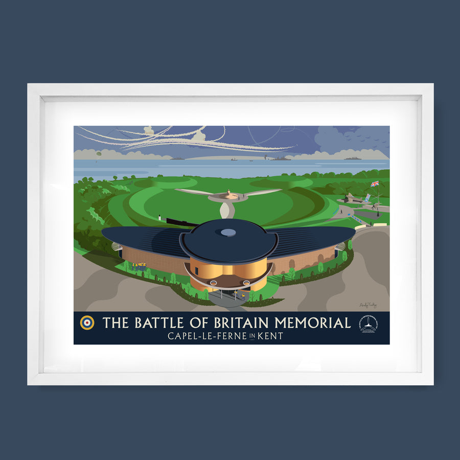 Battle of Britain Memorial Print, Capel-le-Ferne, Kent
