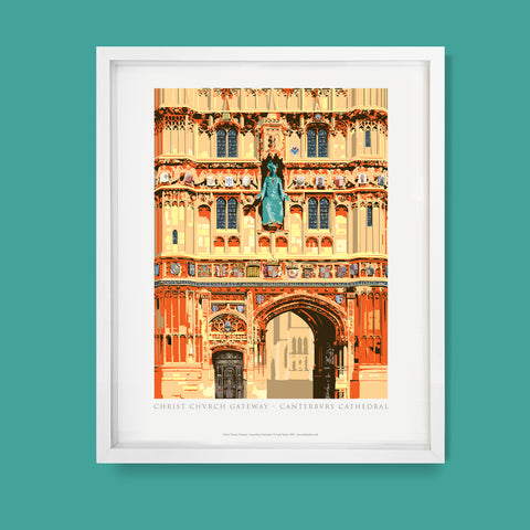Christ Church Gateway, Canterbury Cathedral Print