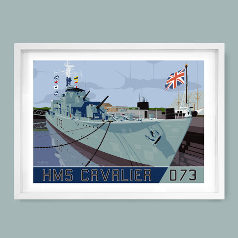 HMS Cavalier (R73) D73, Destroyer Print