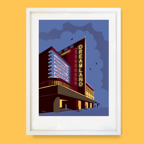 Dreamland At Night, Margate, Print
