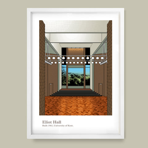 Eliot Hall, University of Kent Print