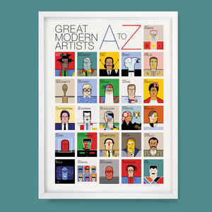 Great Modern Artists  A to Z Poster