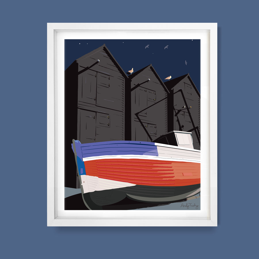Hastings Net Huts, East Sussex Print