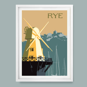 Rye Windmill, East Sussex Print
