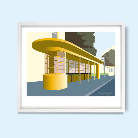 Old Steine Bus Shelter, Brighton, East Sussex Print