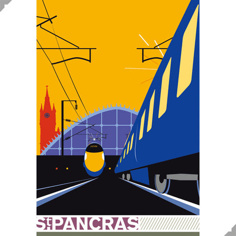 Kings Cross St.Pancras, London Print