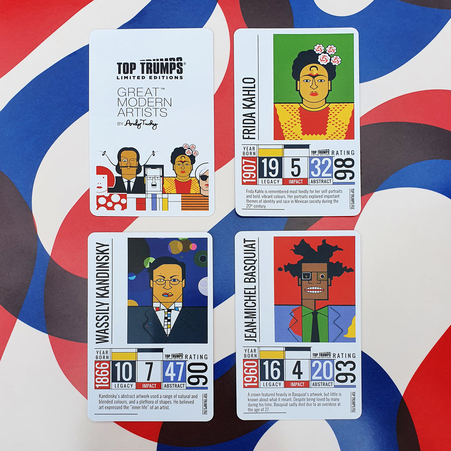Great Modern Artists Top Trumps & Playing Cards