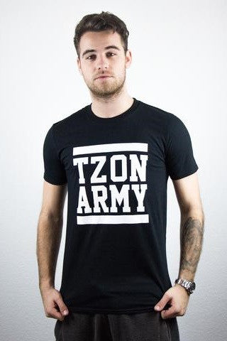 TZON ARMY WHITE ON BLACK BLOCK T-SHIRT (black)