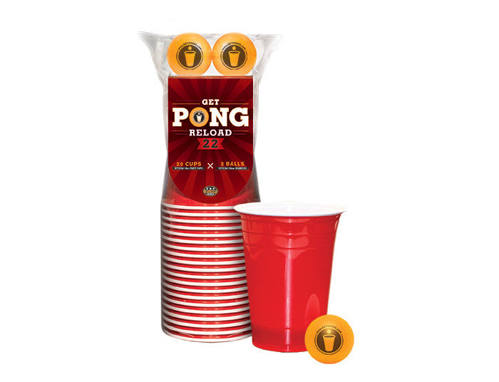 22 Red Cup and 2 Beer Pong Balls