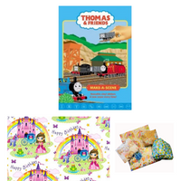 Pass the Parcel Party Game - Thomas the Tank Engine Make-a-Scene Book