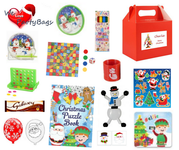 Personalised Kids Christmas Activity Box - Christmas Tree