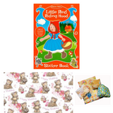 Pass the Parcel Party Game - Little Red Riding Hood Activity Book
