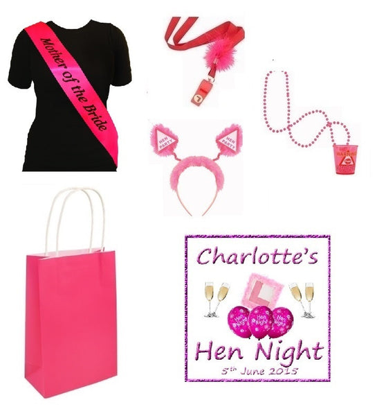 Personalised Hen Party Essentials Bag - 'Mother of the Bride'