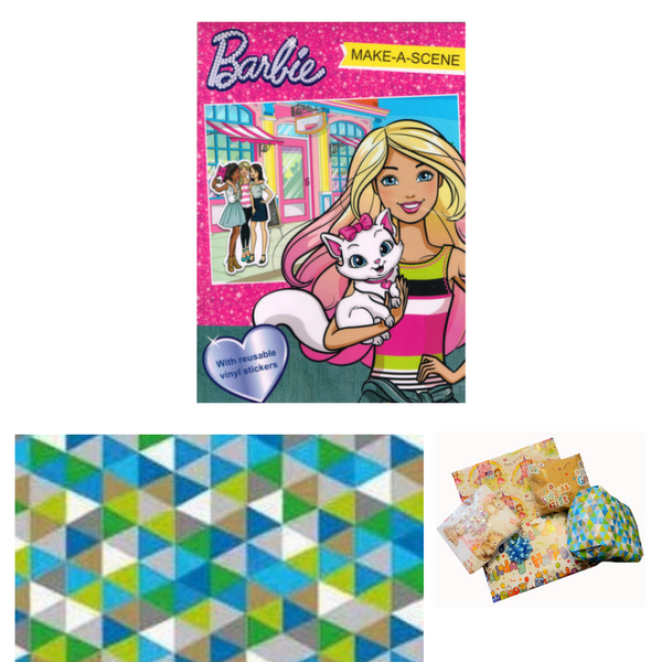 Pass the Parcel Party Game - Barbie Make-a-Scene Book