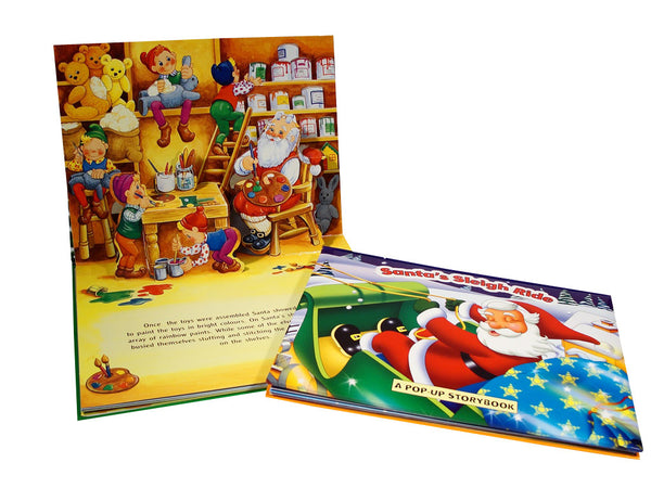 Christmas Pop Up Book - 'Welcome to Santa's Toy Shop'' - We love party bags - 1