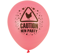'Caution Hen Party' Balloon - We love party bags