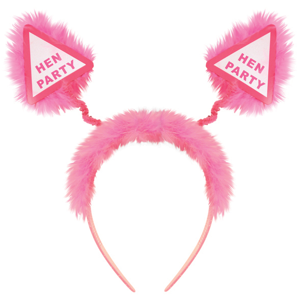 'Hen Party' fluffy head boppers - We love party bags