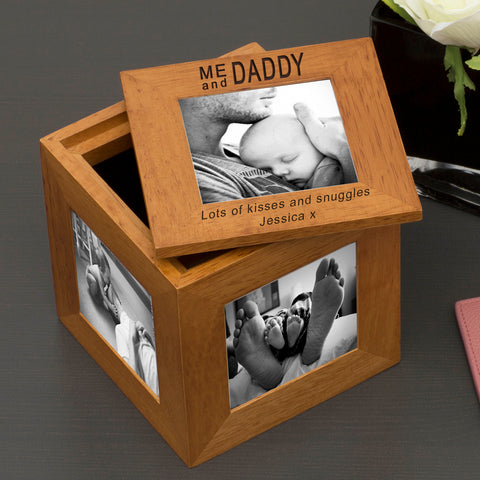 Oak Photo Cube - Me and Daddy
