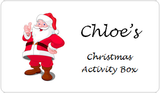 Personalised Kids Christmas Activity Box - Santa
