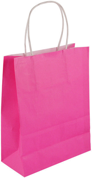 Pink Paper Party Bag with Handles - We love party bags