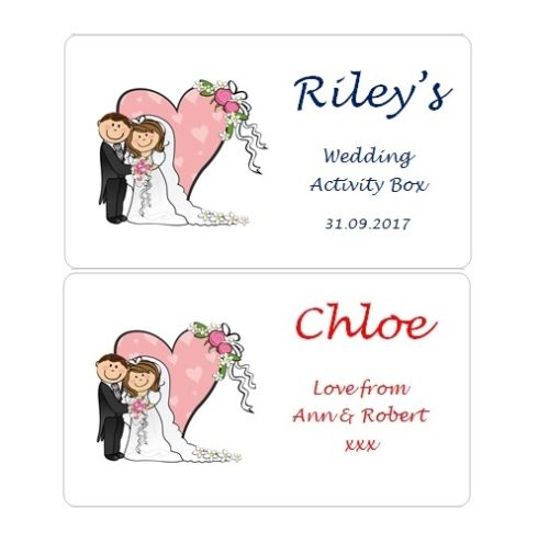 Boys Personalised Wedding Activity Box/Favour