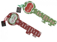 Large Wooden Glitter Santa Key - 36.5cm - We love party bags