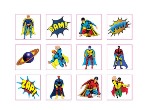 Superhero Tattoo Pack 12 - We love party bags