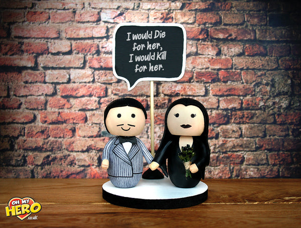 addams family wedding cake topper morticia and gomez family wedding cake topper oh 10540