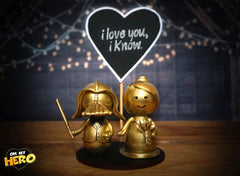 Oh My Hero GOLD Superhero Wedding Cake Topper
