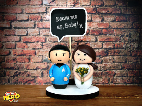 Spock and Bride Star Trek Wedding Cake Topper