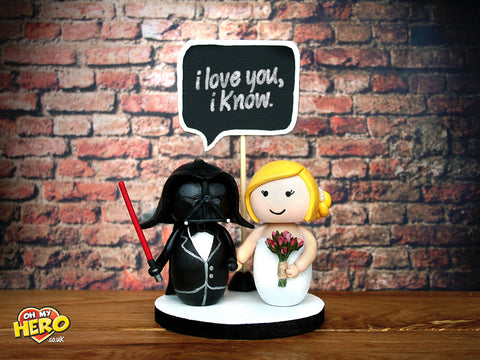 Darth Vader and Bride Star Wars Wedding Cake Topper