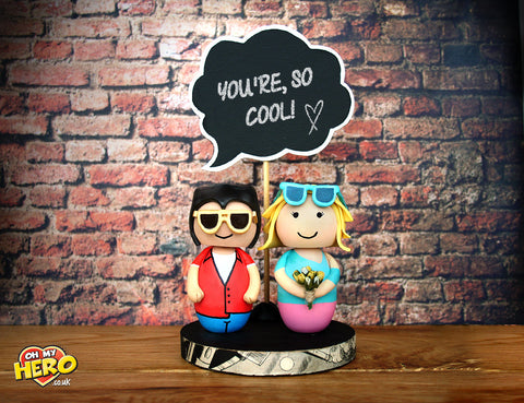 True Romance Retro Wedding Cake Topper Clarence and Alabama