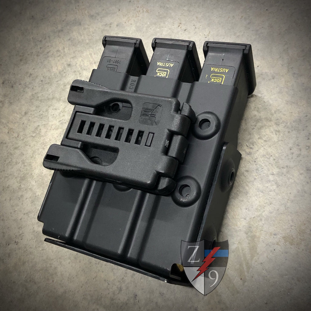 Horizontal Duty Style Triple Mag Case
