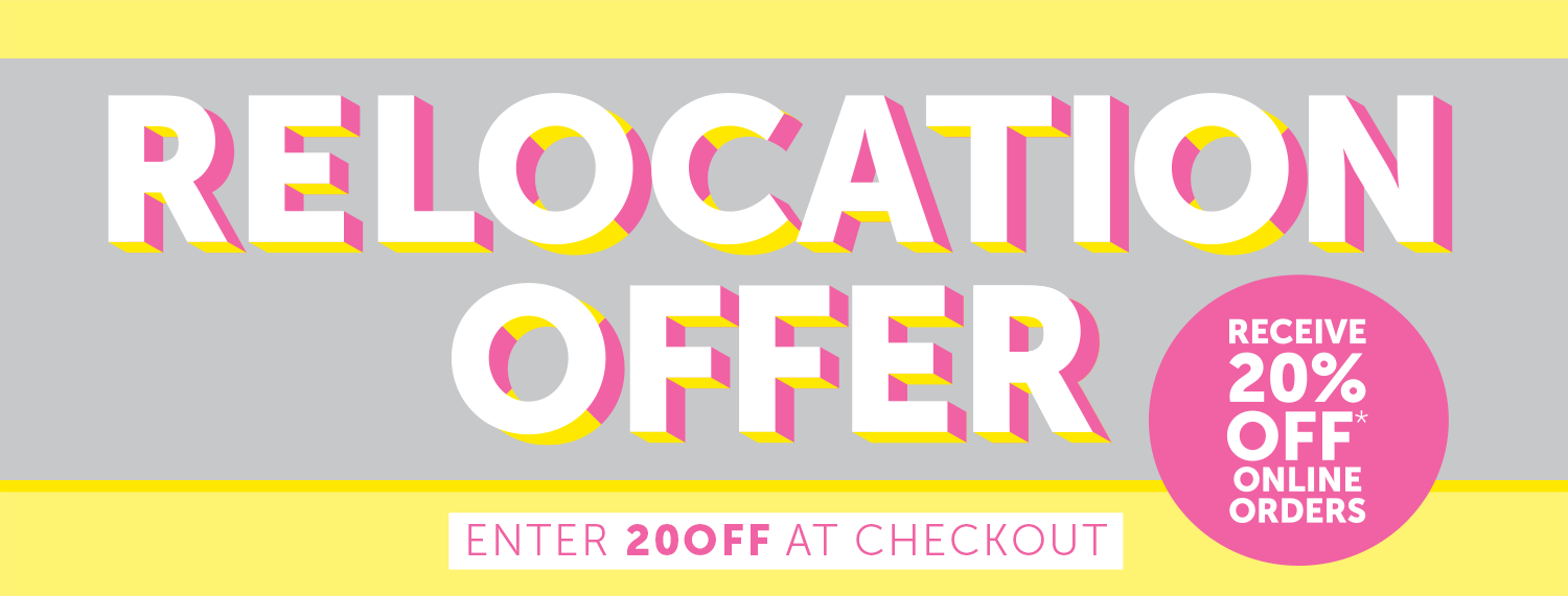 Relocation Offer 20% OFF Sale