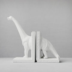 White Moose - Diplodocus Bookends - Gold, White or Black