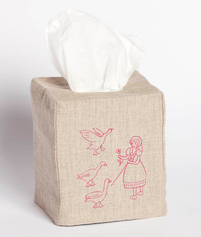 Nana Huchy Linen Tissue Box Cover - Girl
