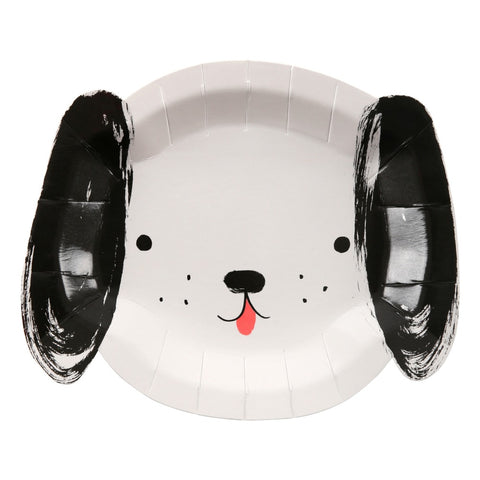 Meri Meri - Black & White Dog Plates