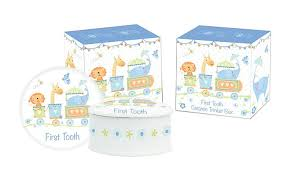 Gibson - Dotty Tots First Tooth or First Curl Ceramic Box