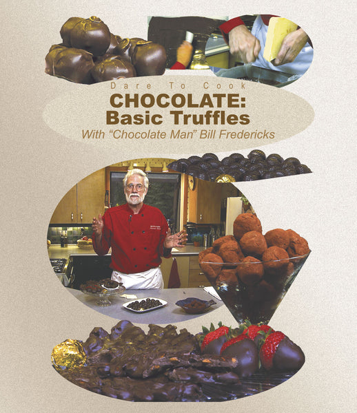 Seven different truffles in Dare to Cook's Basic Truffles with Chocolate Man Bill Fredericks.