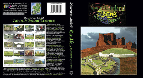Discoveries Ireland, Castles and Historic Treasures (Blu-ray) shows you all the hidden gems of this beautiful country,