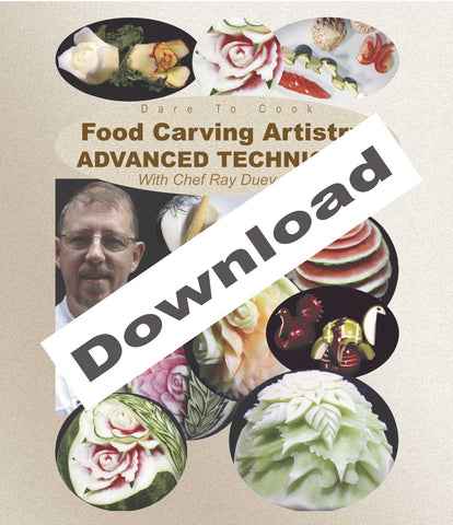 Learn advanced techniques in Food Carving Artistry, Advanced Techniques w/ Chef Ray Duey.