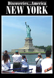 Discoveries America New York shows you tourist attractions like Wall Street, the Statue of Liberty, and Ellis Island.