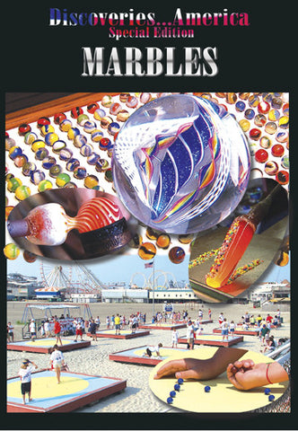 Discoveries America Special Edition Marbles teaches you the history behind one of our favorite toys- the marble.